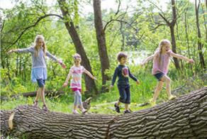 Natürlicher Kletterwald. Viel Platz zum Entdecken für kleine Abenteurer. © TMV/outdoor-visions.com