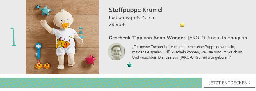 Stoffpuppe Krümel