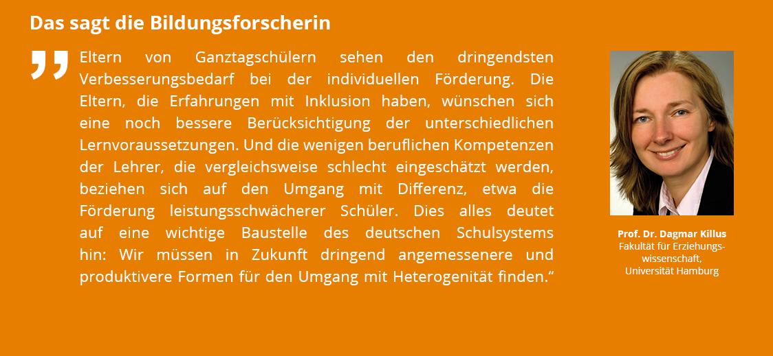 Das sagt die Bildungsforscherin Prof. Dr. Dagmar Killus