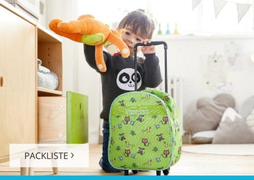 Wir packen unsere Koffer
