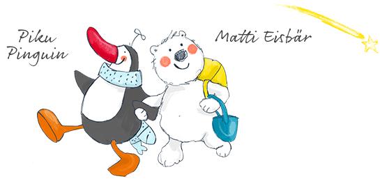 Piku Pinguin und Matti Eisbär