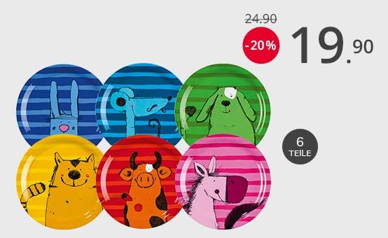 JAKO-O Melaminteller-Set Tiere