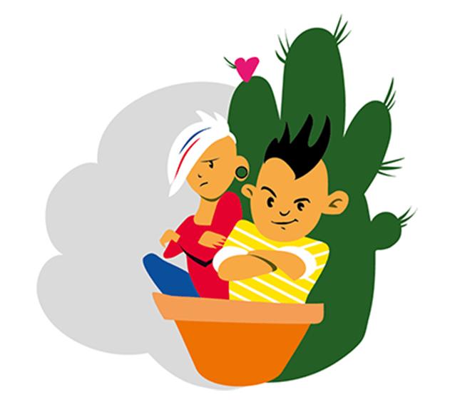 Die Kunst, einen Kaktus zu umarmen …