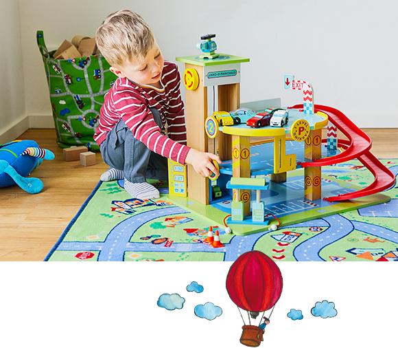 Fantasievolle Spielteppiche