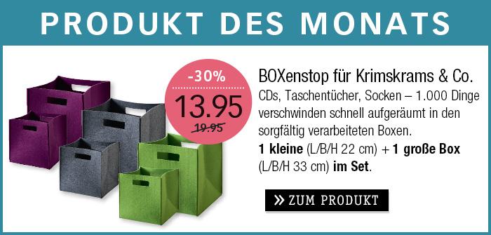 PRODUKT DES MONATS - FILZBOX