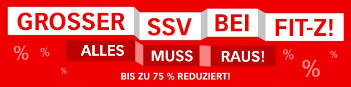 GROSSER SSV BEI FIT-Z! ALLES MUSS RAUS! - BIS ZU 75% REDUZIERT!