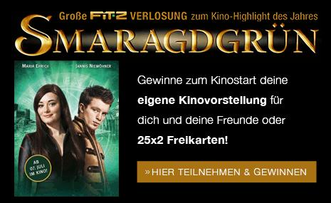 Große FIT-Z VERLOSUNG zum Kino-Highlight des Jahres - SMARAGDGRÜN - HIER TEILNEHMEN & GEWINNEN