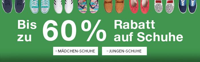 Bis zu 60% Rabatt auf Schuhe!