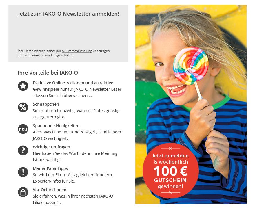 Jetzt anmelden & wöchentlich 100 € Gutschein gewinnen!