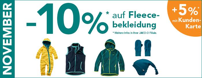 10% auf Fleecebekleidung