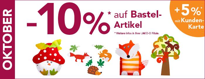 10% auf Bastelartikel