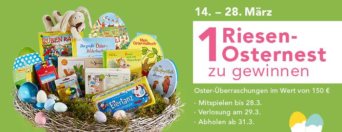 1 Riesen-Osternest zu gewinnen!