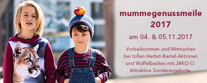 mummegenussmeile 2017 am 04. & 05.11.2017 Vorbeikommen und Mitmachen bei tollen Herbst-Bastel-Aktionen und Waffelbacken mit JAKO-O. Attraktive Sonderangebote.