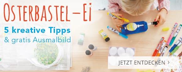 Osterbastel-EI - 5 kreative Tipps und gratis Ausmalbild
