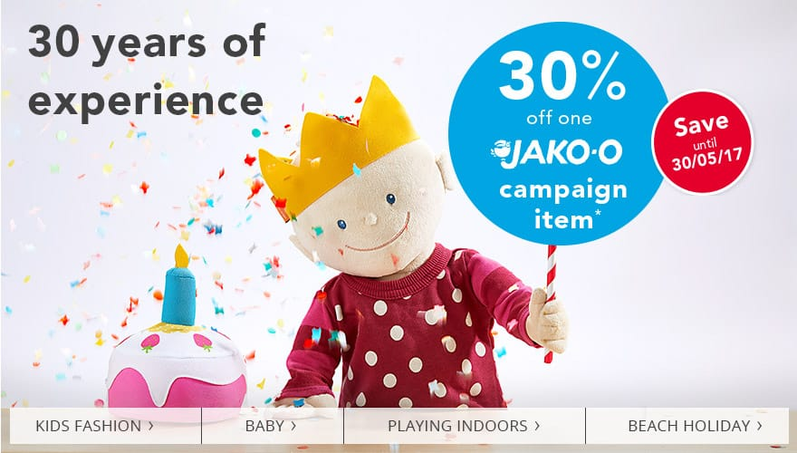 30% off one JAKO-O campaign item