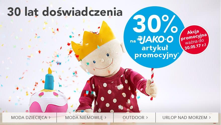 30% na JAKO-O artykuł promocyjny