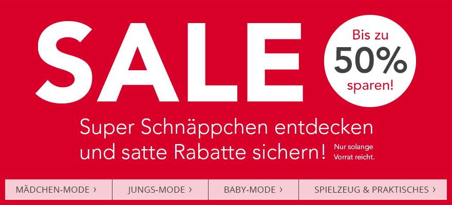 SALE - Super Schnäppchen entdecken und satte Rabatte sichern! Bis zu 30 % sparen!