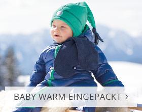 Baby warm verpackt