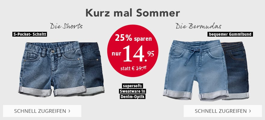 Kurz mal Sommer! Shorts & Bermudas