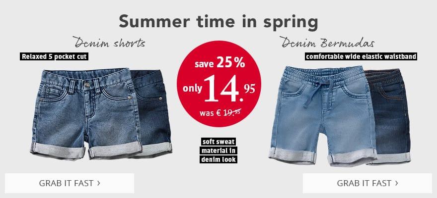 Summer time in spring! Shorts & Bermudas