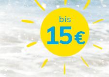 bis 15 €