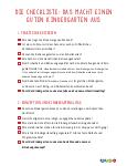 Checkliste KiGa-Auswahl