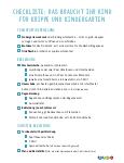 Checkliste KiGa