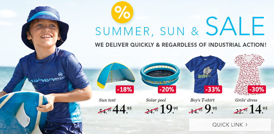 SUMMER, SUN & SALE - WE DELIVER QUICKLY & REGARDLESS OF INDUSTRIAL ACTION!