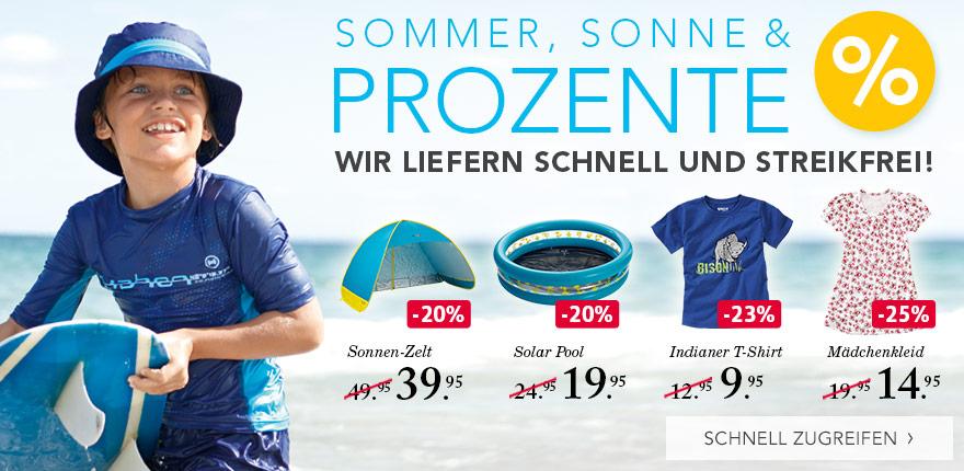 SOMMER, SONNE & PROZENTE - WIR LIEFERN SCHNELL UND STREIKFREI! - SCHNELL ZUGREIFEN