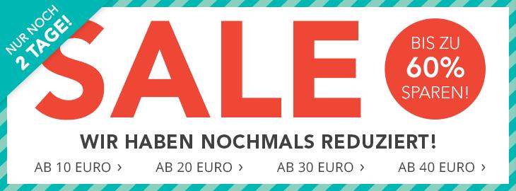 Nur noch 2 Tage! SALE – Bis zu 60% sparen!