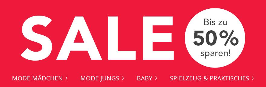 SALE! Bis zu 50 % sparen!
