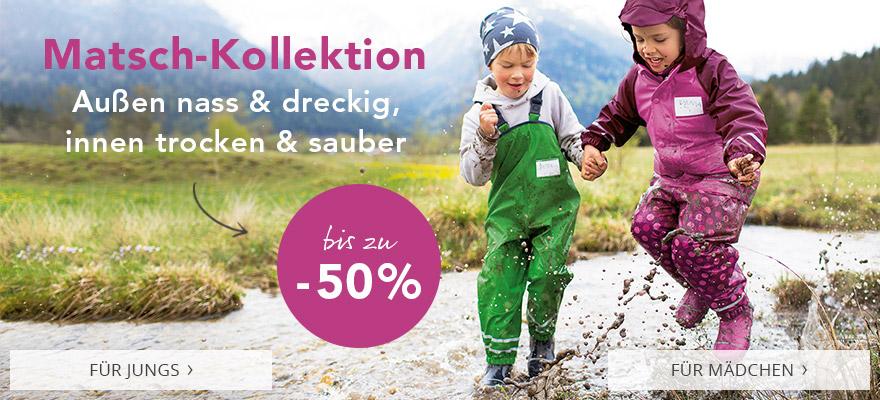Matsch-Kollektion: außen nass & dreckig, innen trocken & sauber