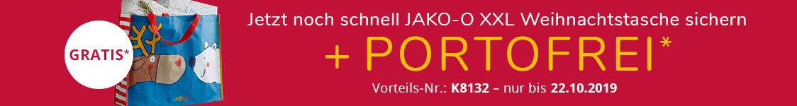 JAKO-O XXL Weihnachtstasche sichern + PORTOFREI