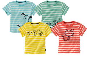 Baby-Ringel-T-Shirt Bauernhof