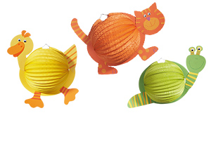 Animal lanterns, craft set for 3 pcs