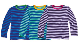 Striped, ribbed, long-sleeved shirt