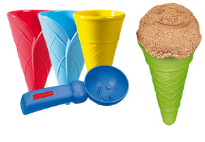 Ice cream waffle set, 5 parts